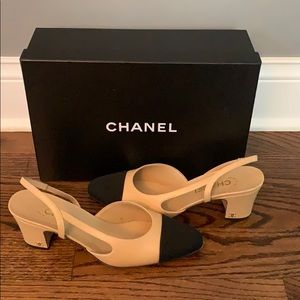 Chanel Slingback Heels